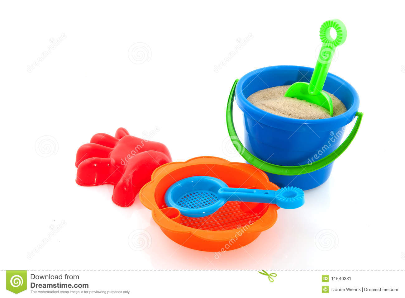 Toys For Beach : Toys for the beach stock image of play orange