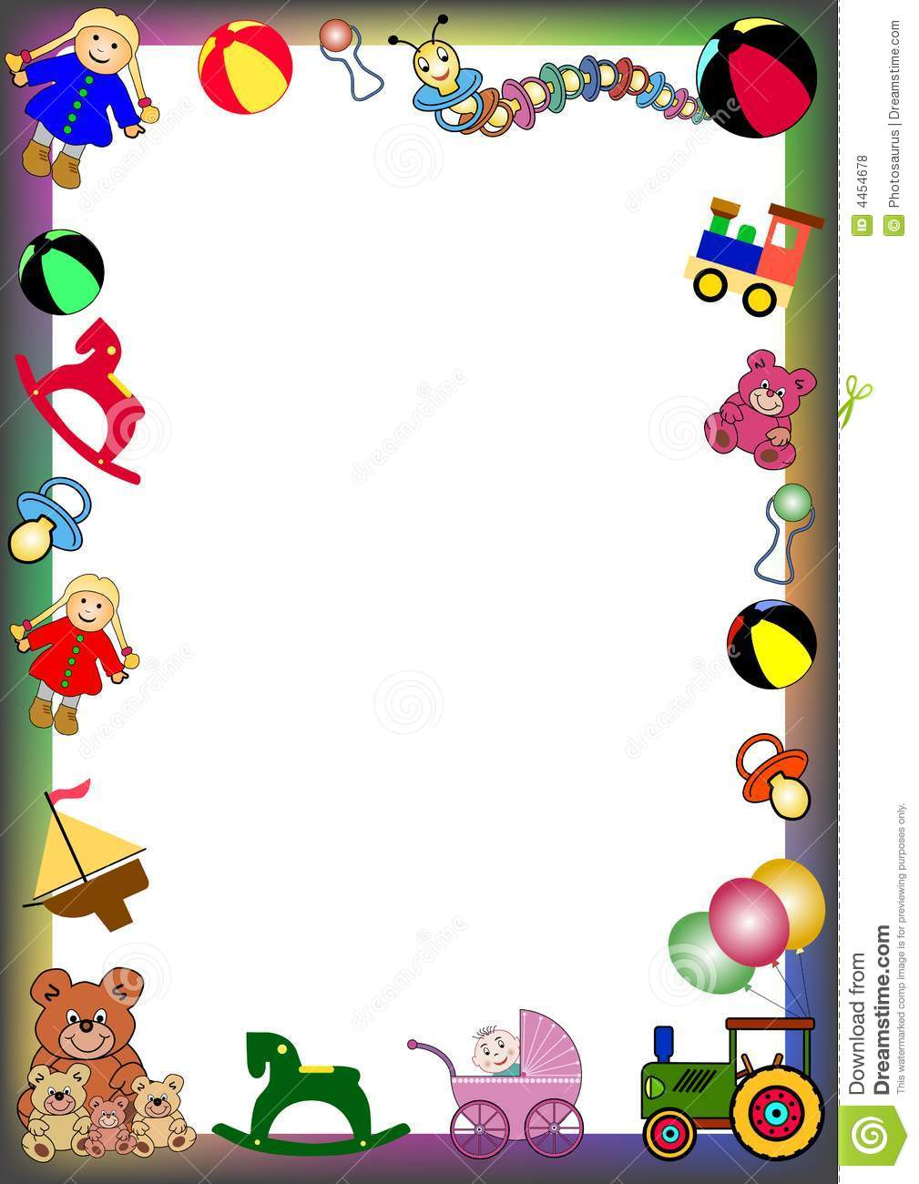 Christmas Toys Border : Toys border stock vector illustration of float card