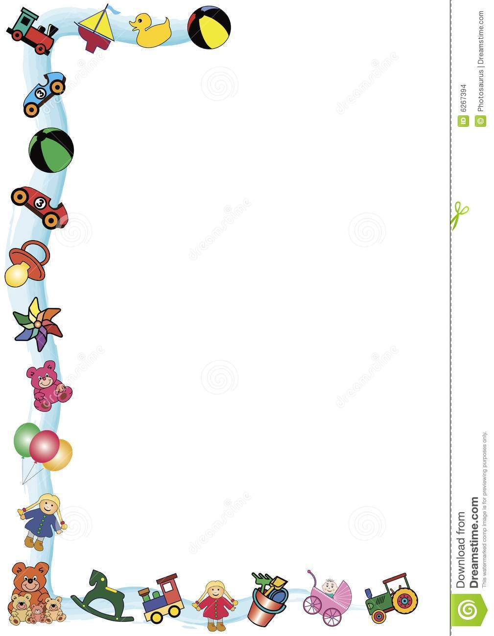 Toys Border Stock Vector Illustration Of Border Anniversary 6267394