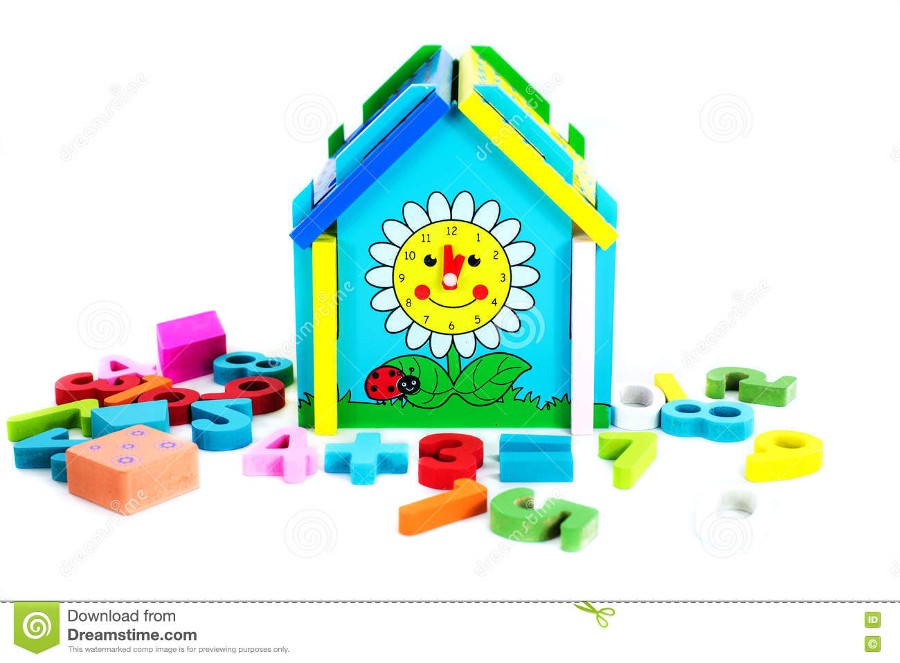 Brain Development Toys : Toys for children jigsaw geometry royalty free stock