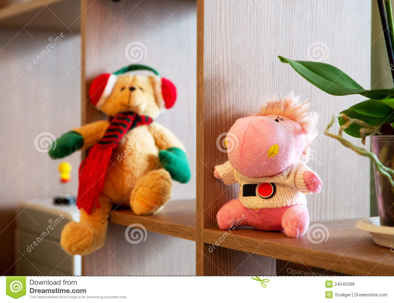 Room Filled With Soft Toys : Toys in children s room royalty free stock photos image