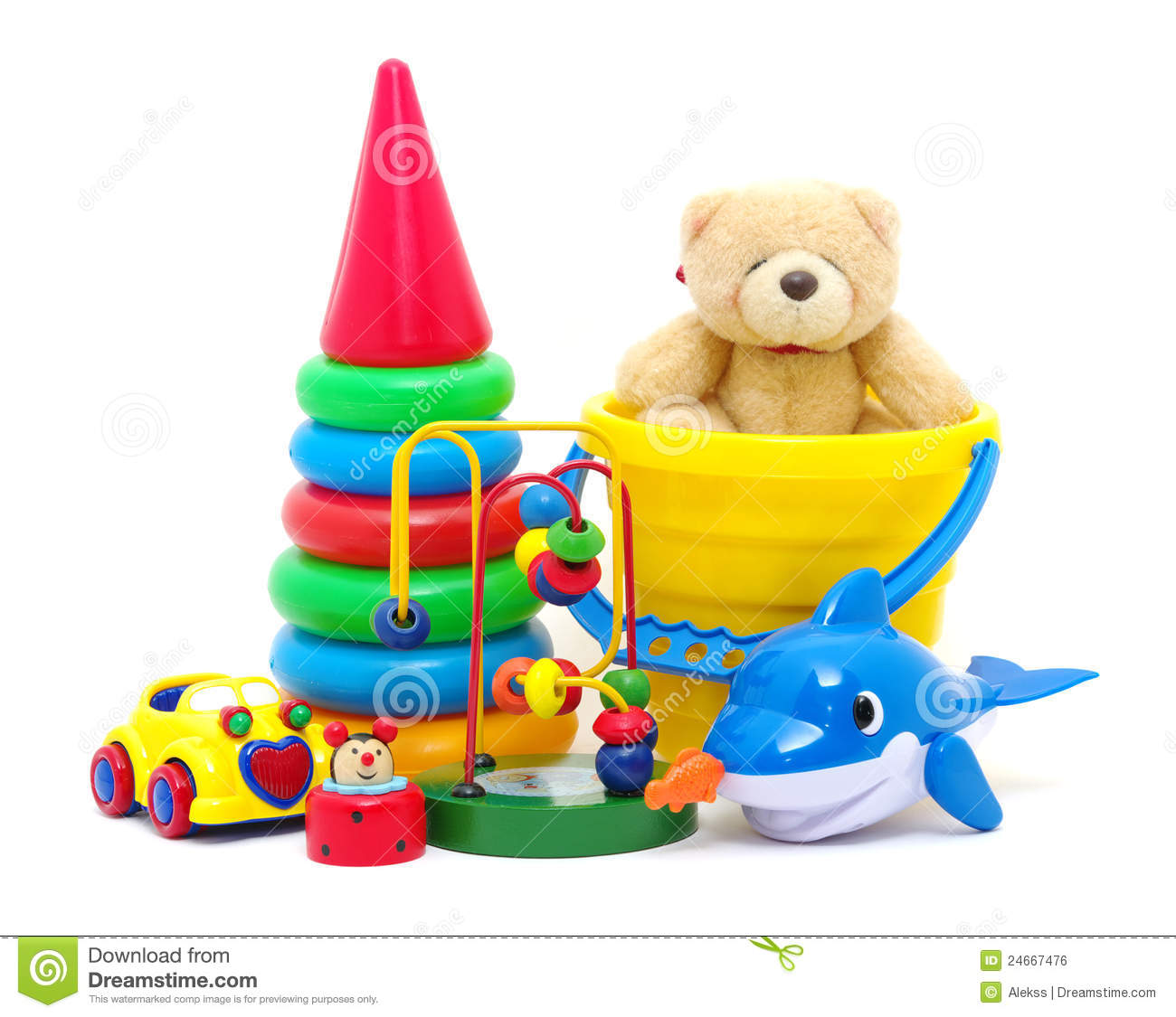 Toys collection stock photo image of yellow isolated for Juguetes de plastico