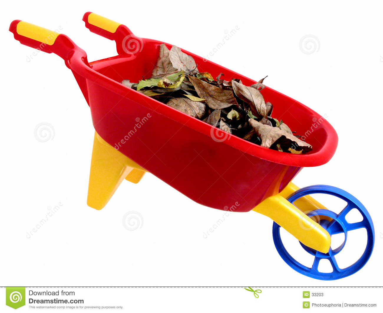Toys: Plastic Wheelbarrel and Dry Leaves (2 of 2)