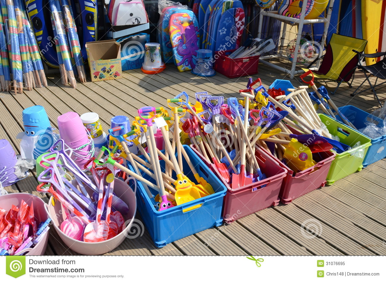Toys For Beach : Toys for sale at a beach shop stock image of