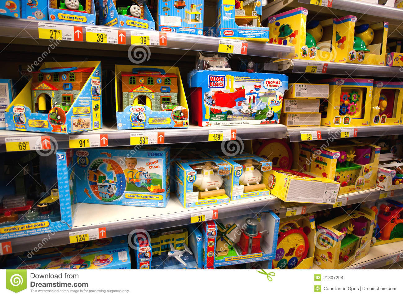 Toys in supermarket editorial stock image. Image of baby ...