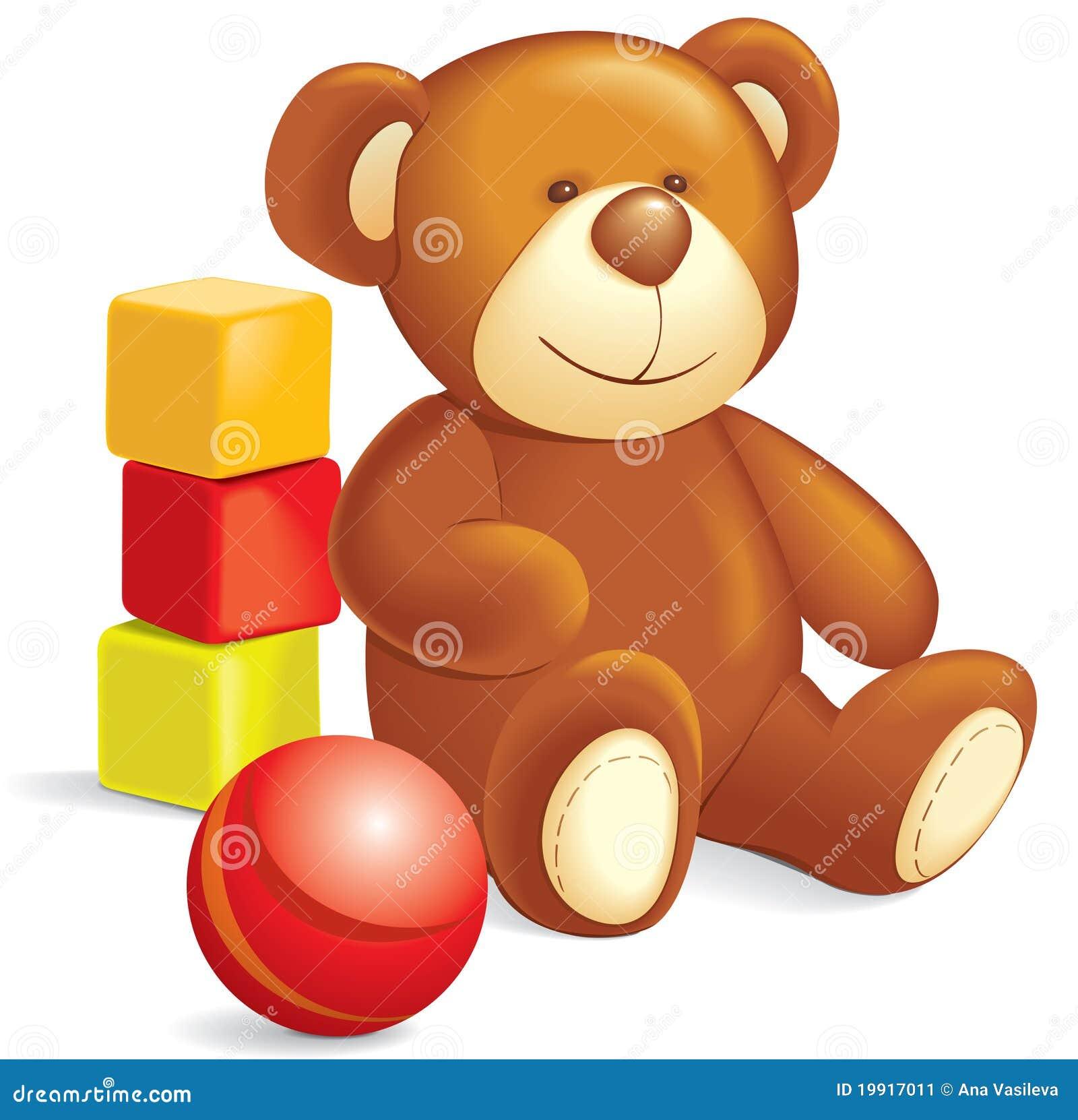 Toy Ball Clip Art : Toys teddy bear cubes ball stock image