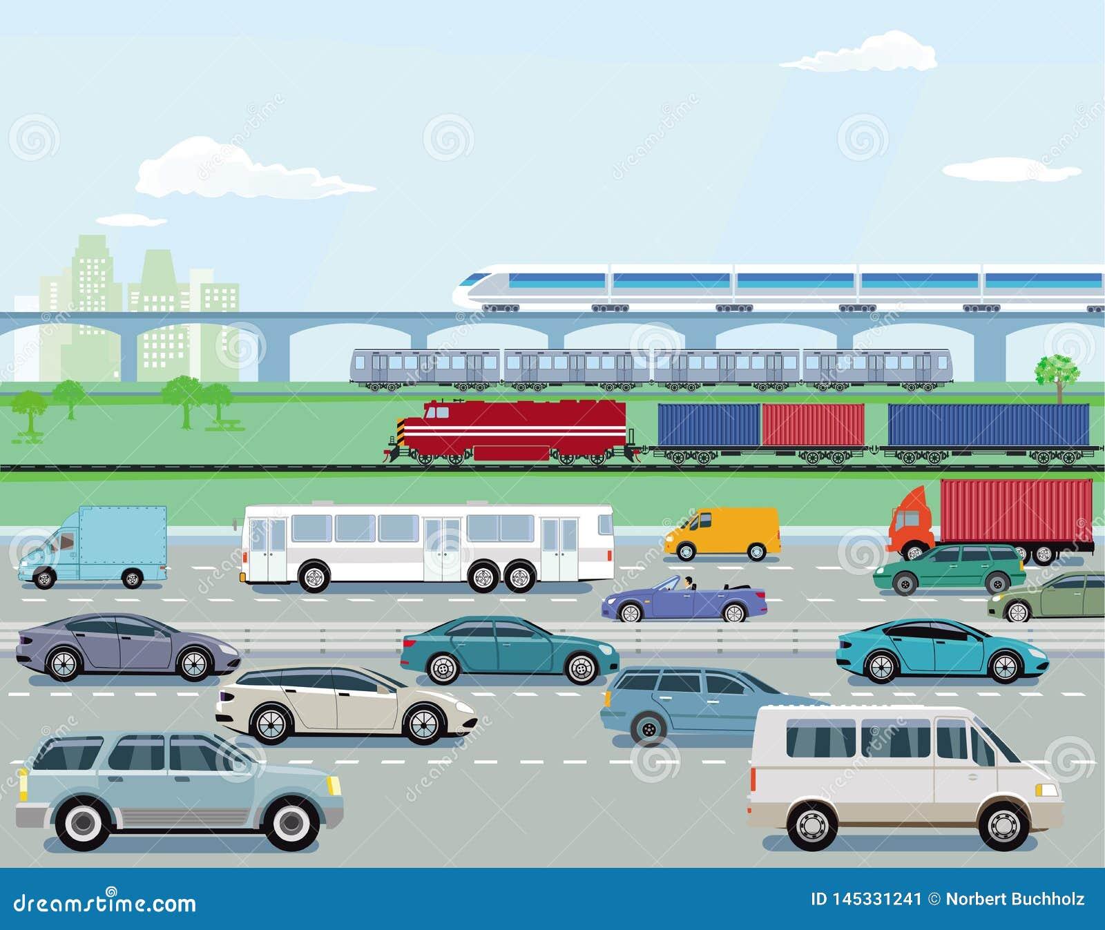 Tráfego e estradas de ferro da estrada