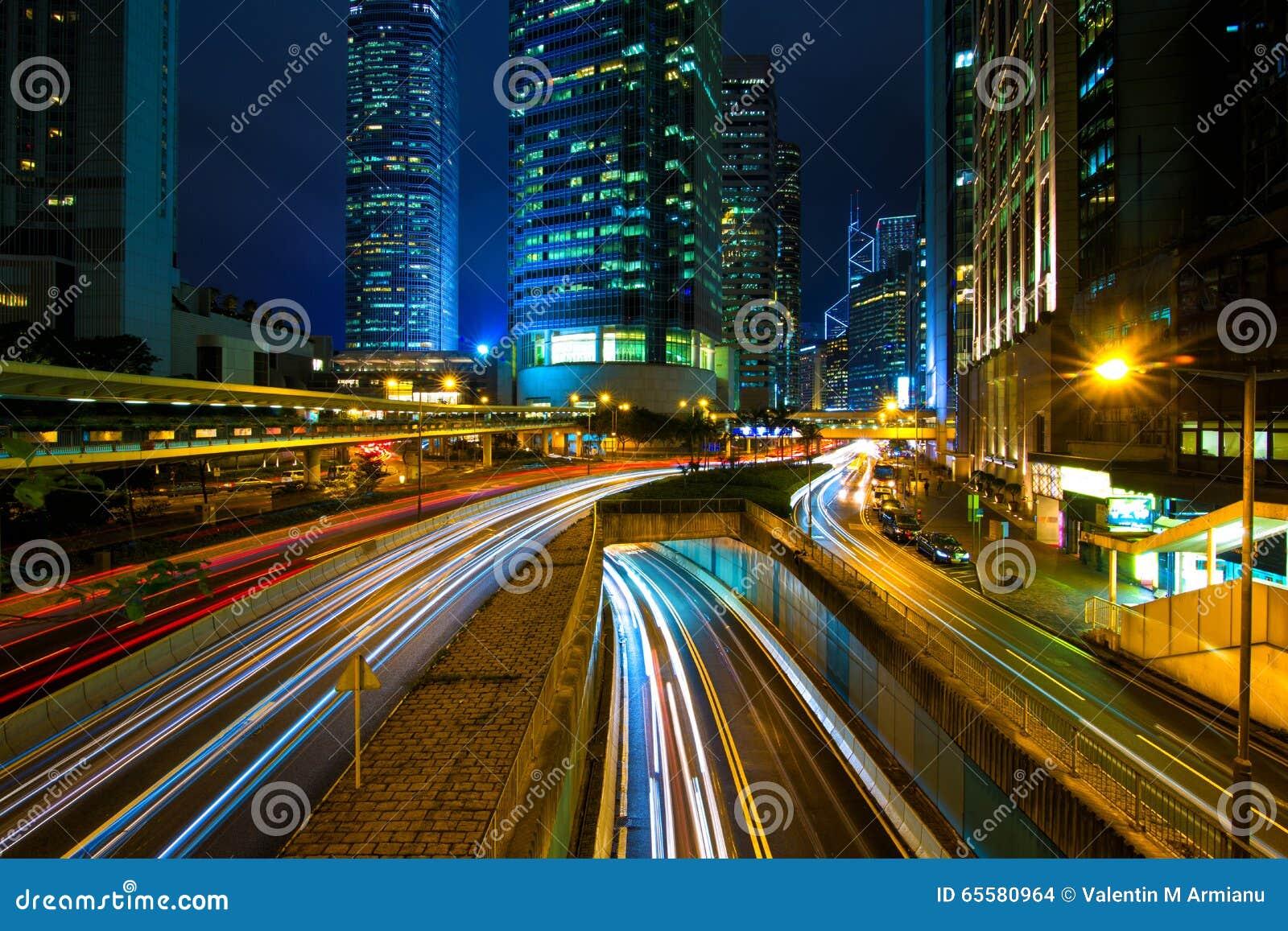 Tráfico de ciudad Hong Kong