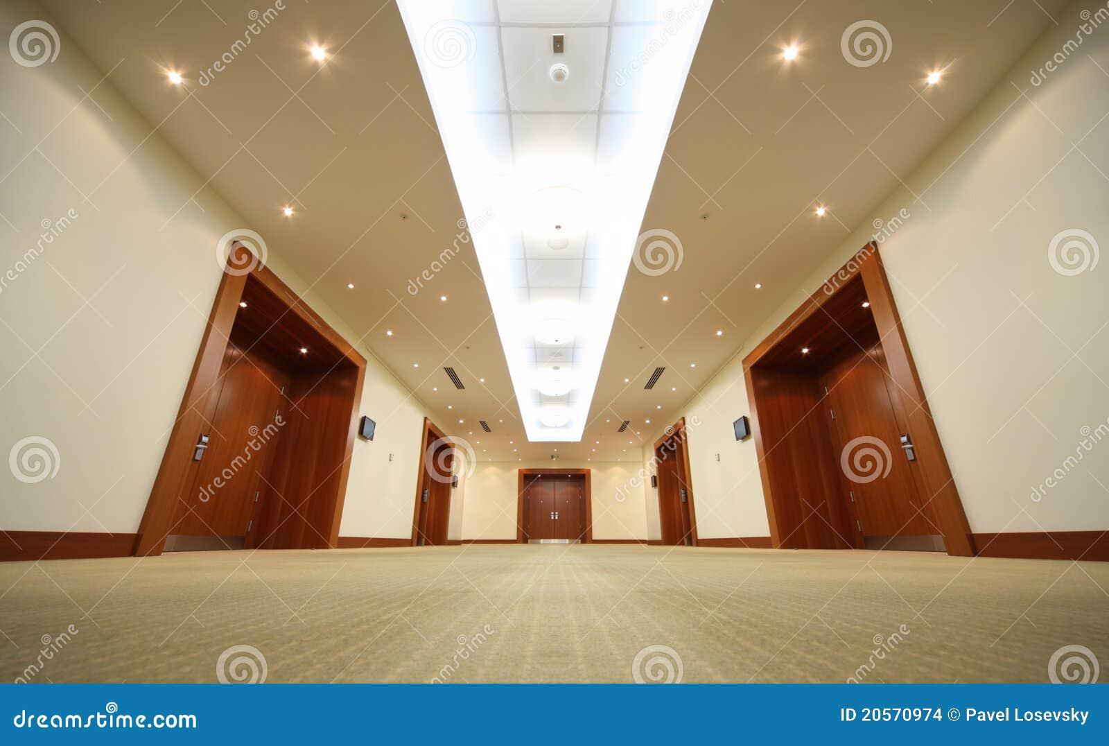 Trä för hall för slut för korridordörrdörrar