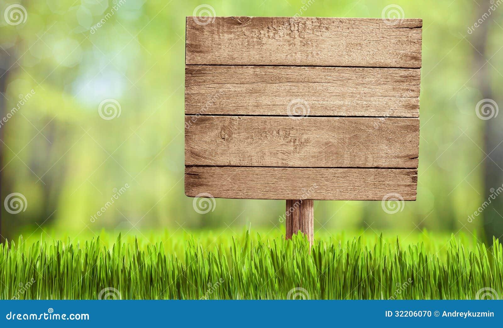 Trä underteckna in sommarskogen, parkera eller arbeta i trädgården