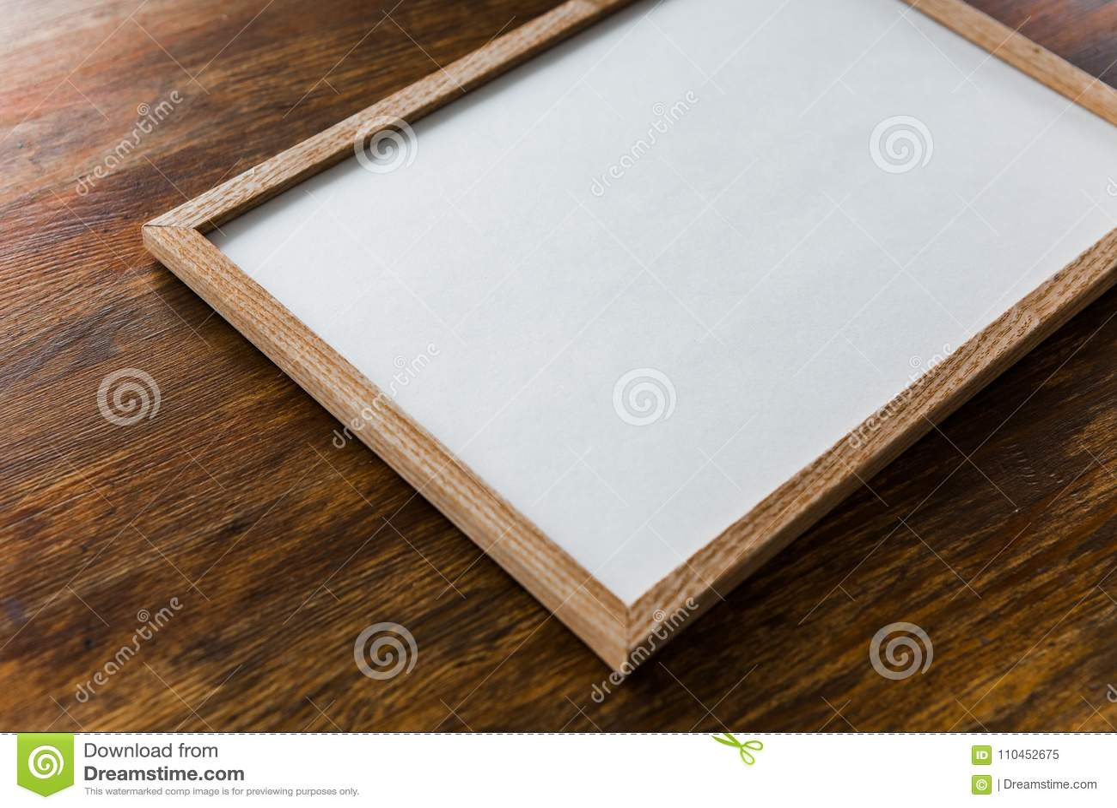 Träbakgrund för fyrkantig ramaffischåtlöje