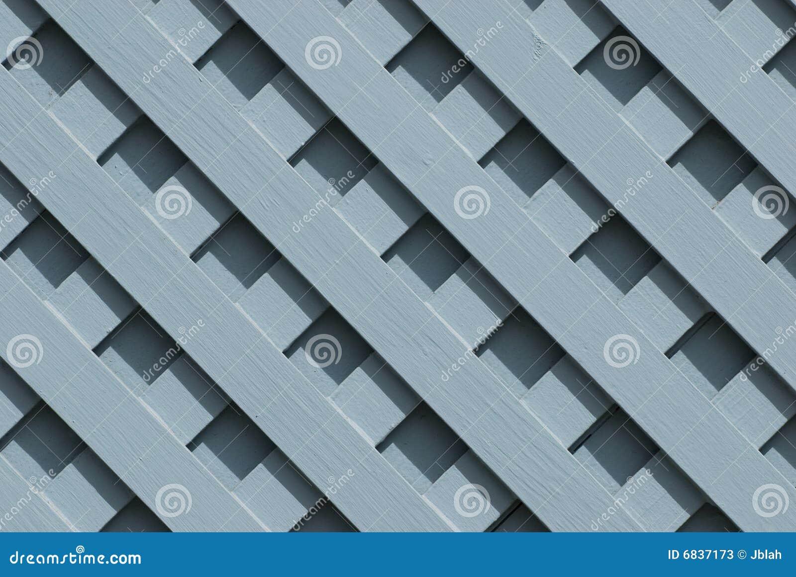 Träblått galler