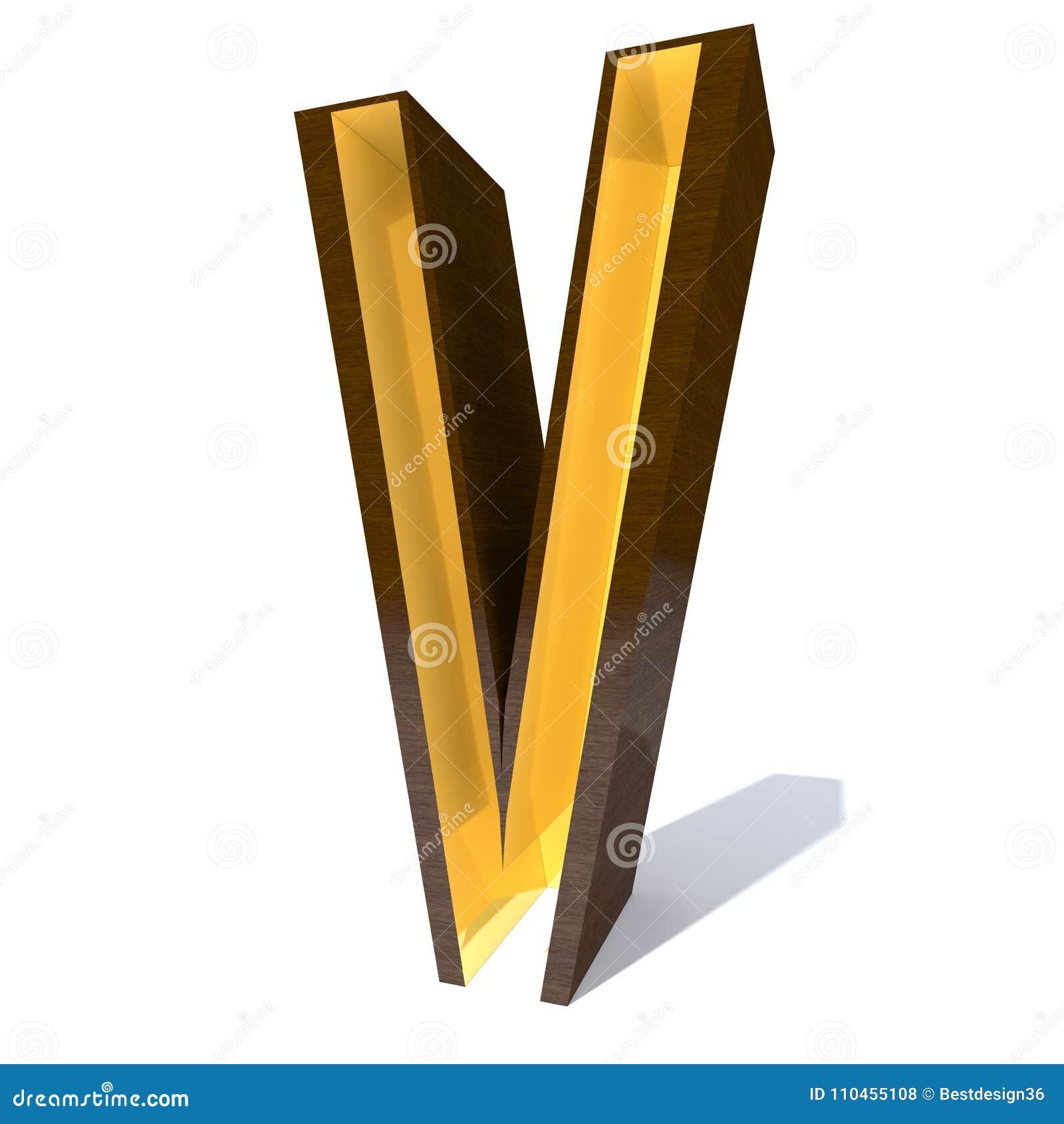 Träbrun stilsortstyp med den guld- inre