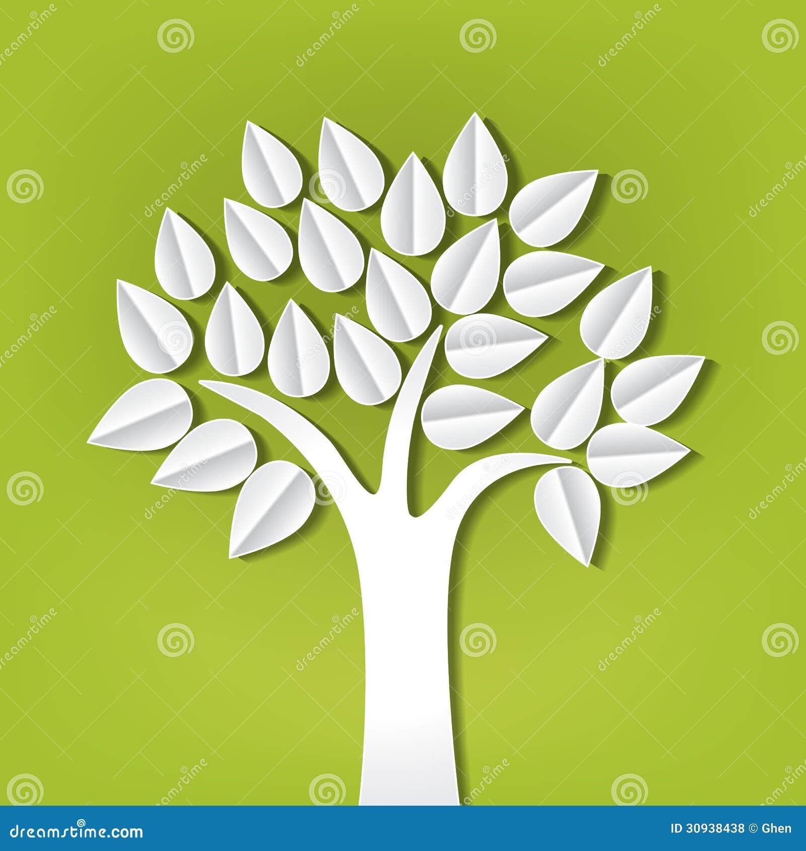 Träd som ut göras av pappers- snitt