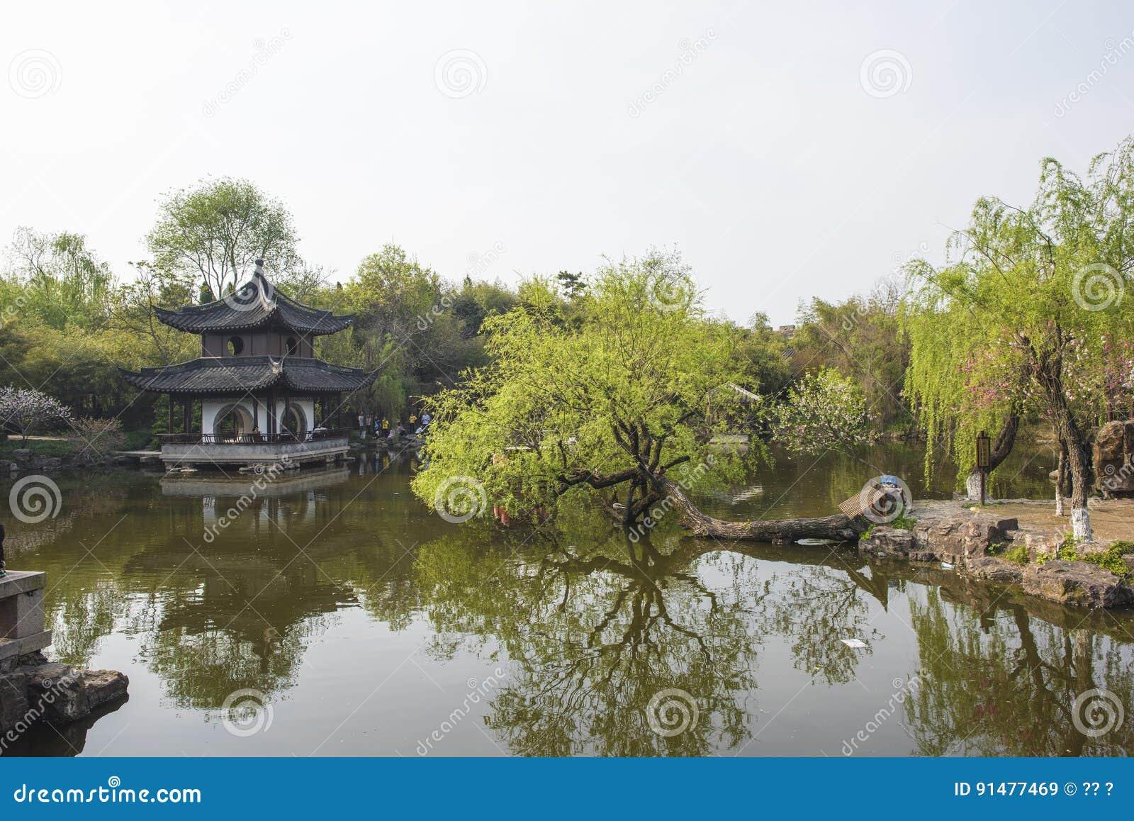 Trädgård för Rugao vattenmålning