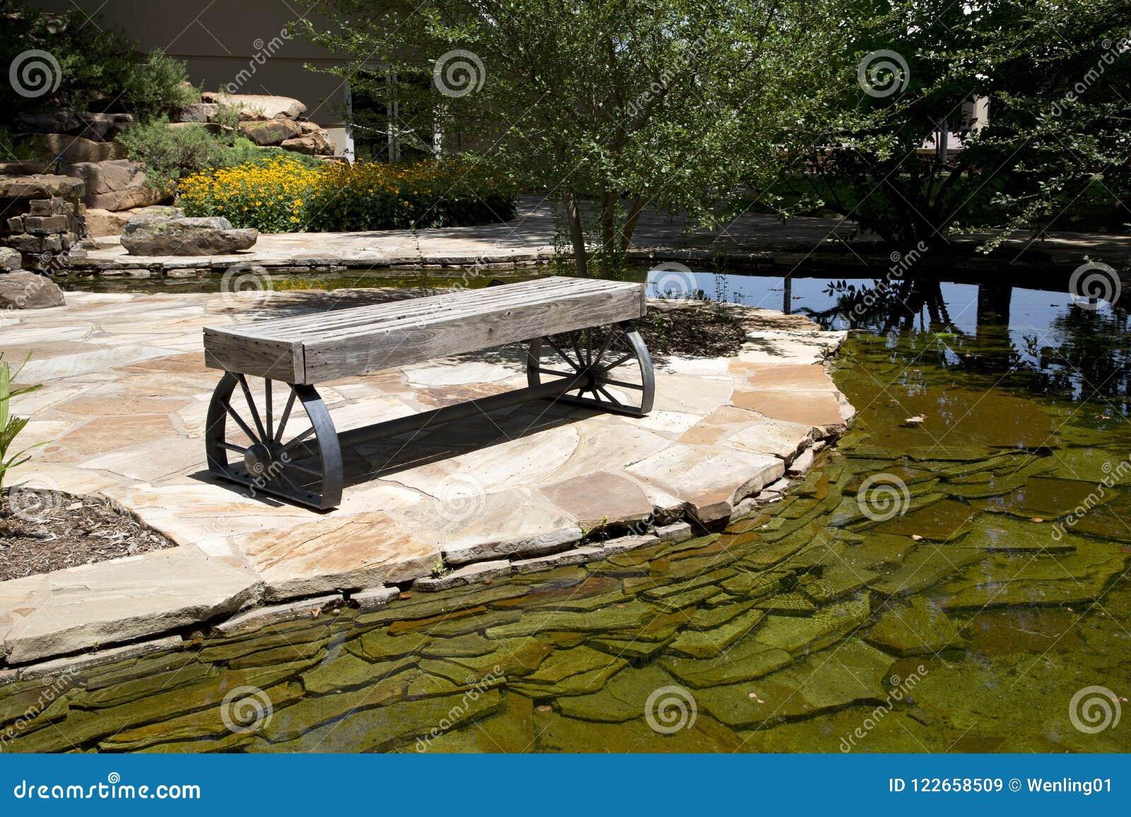Trädgård i den nationella cowboyen & det västra arvmuseet Oklahoma