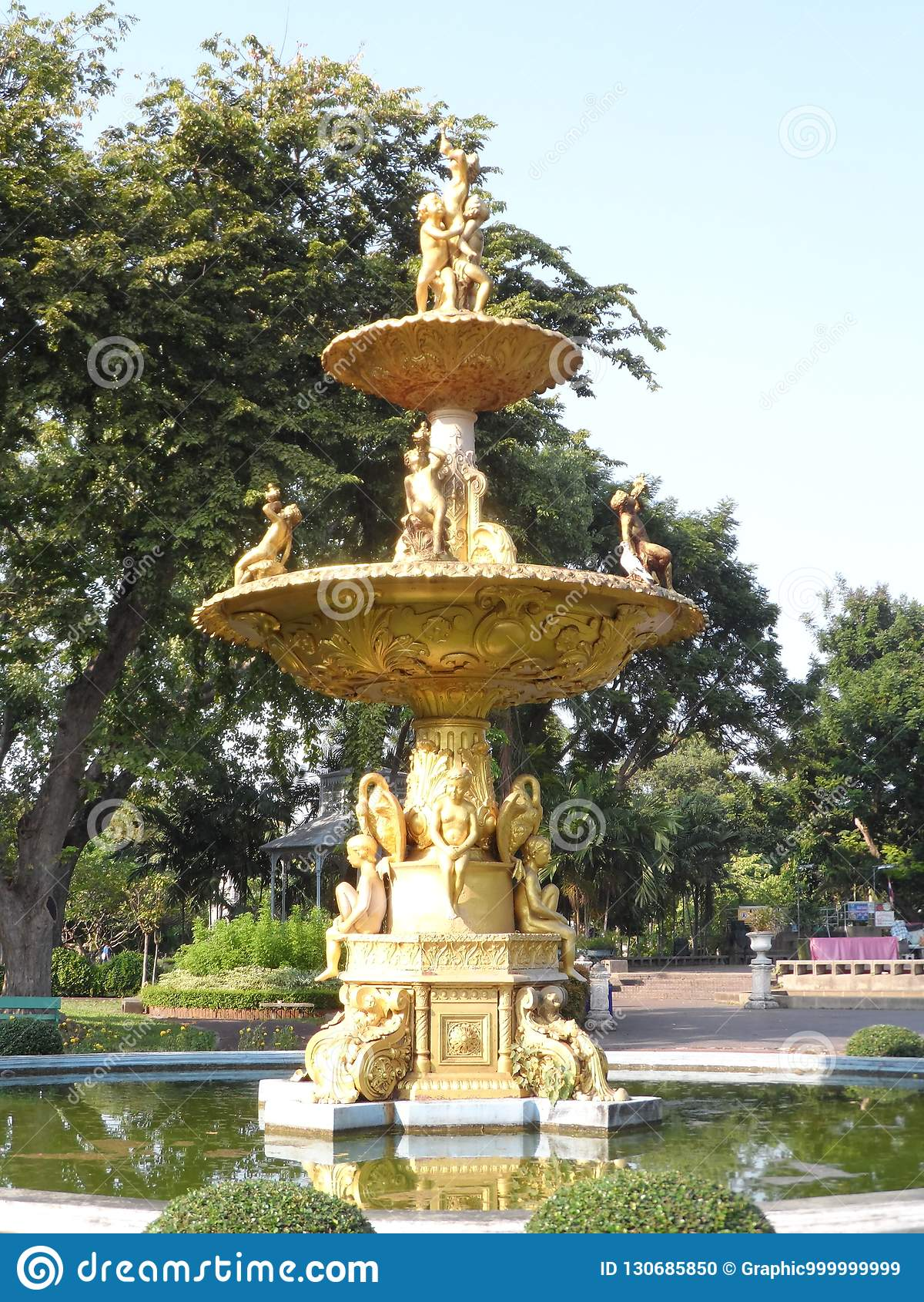 Trädgården parkerar foto i Bangkok, är Thailand där många thailändska intressanta ställen både och utländska turister Komm att ko