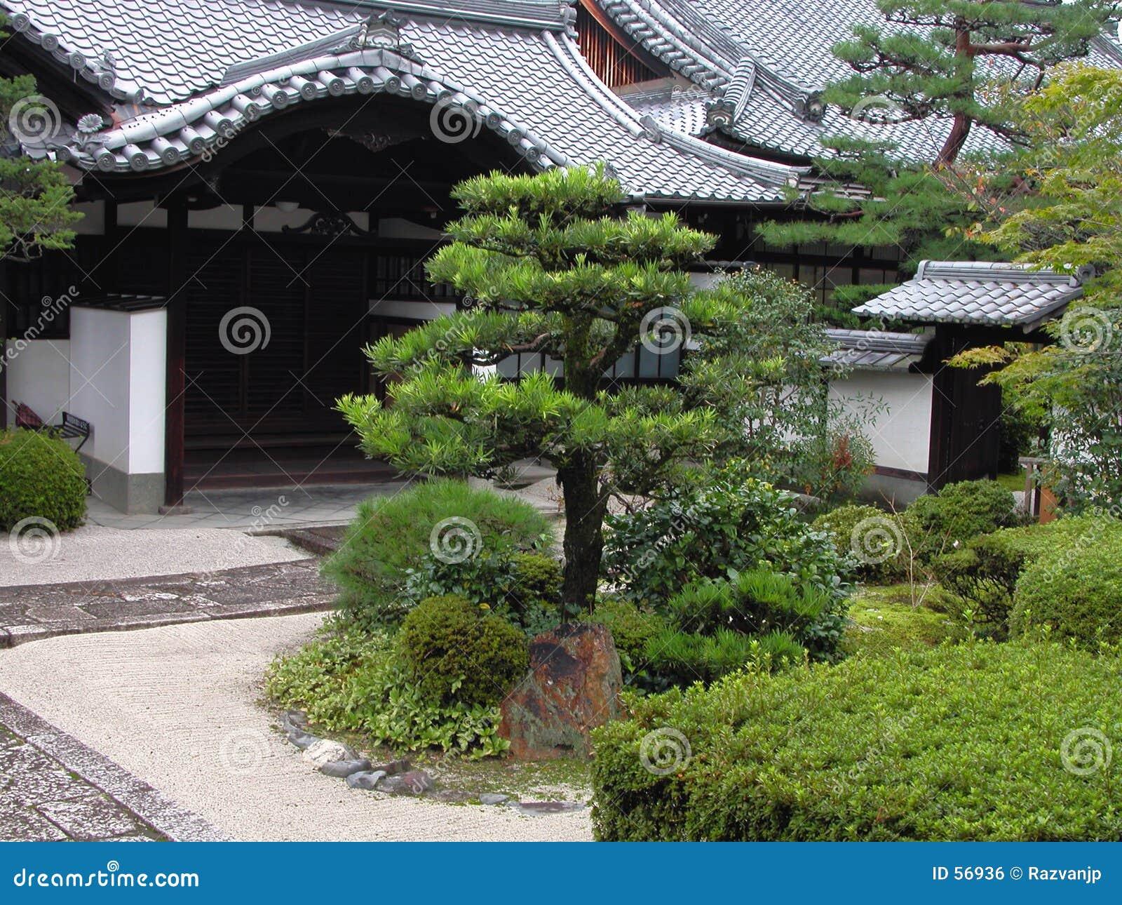 Trädgårds- japanskt tempel