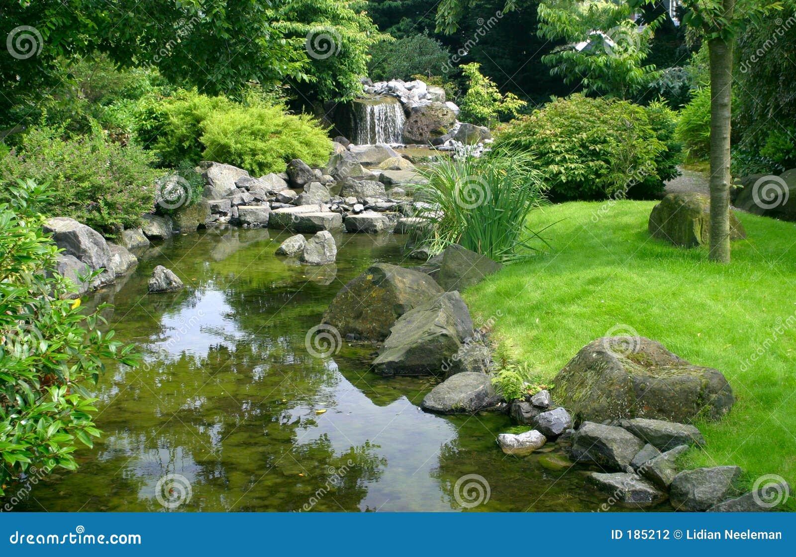 Trädgårds- japanskt vatten