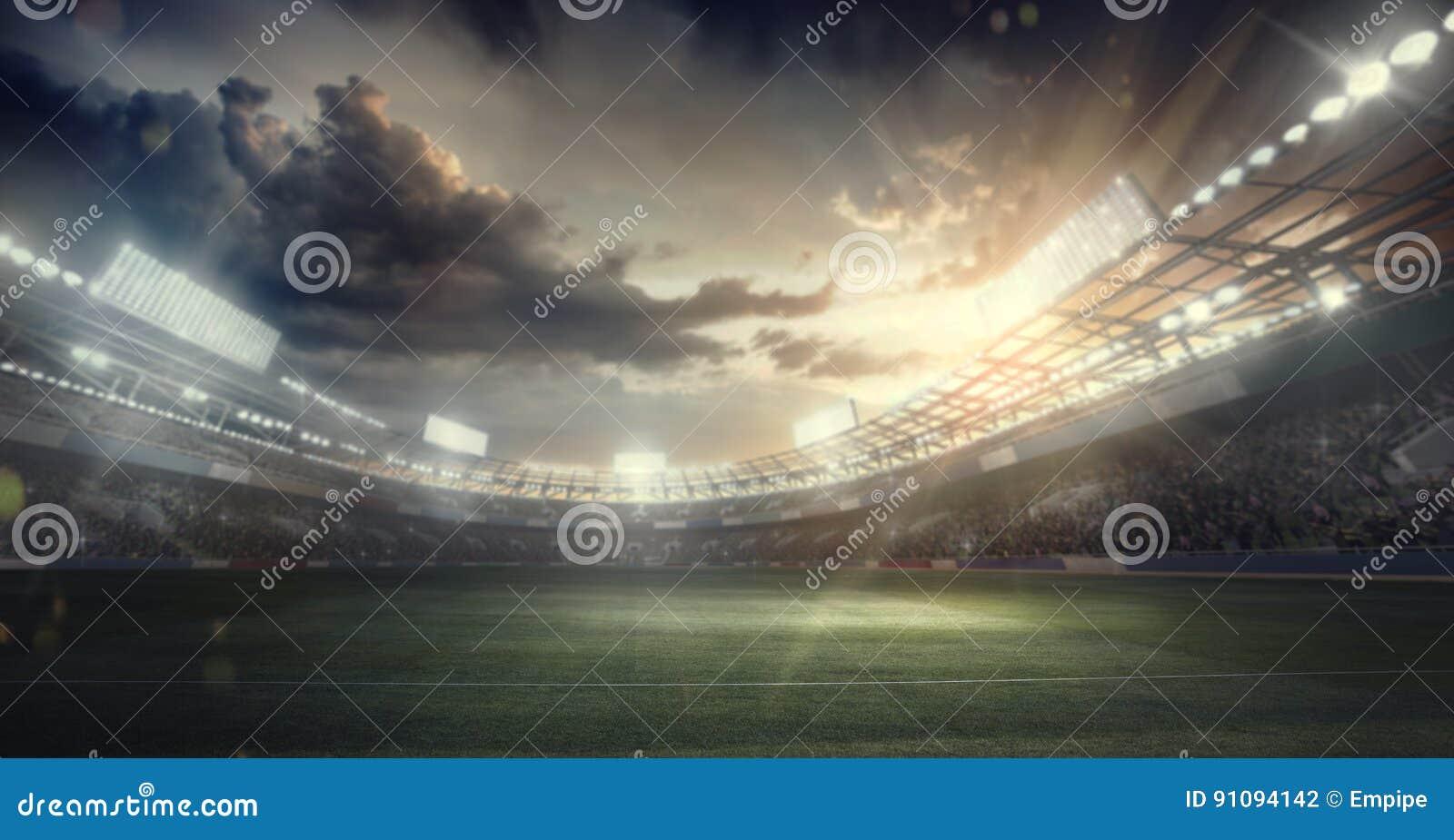 Trägt Hintergrund zur Schau Regen auf dem Stadion