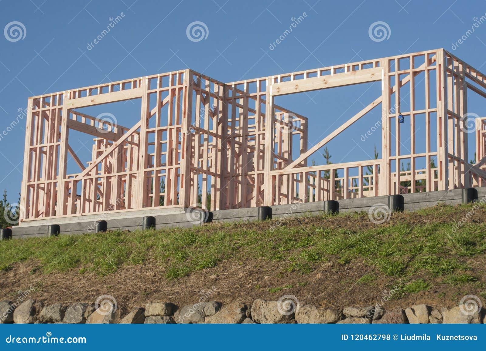 Träkonstruktion av privata hus som konstruerar i Nya Zeeland
