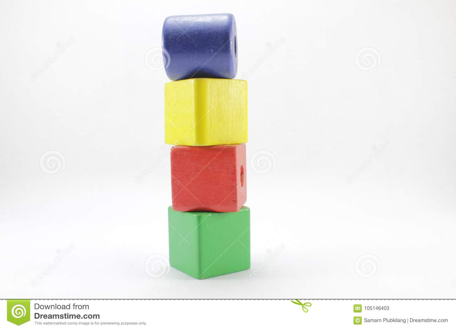Träleksaker eller Toy Blocks