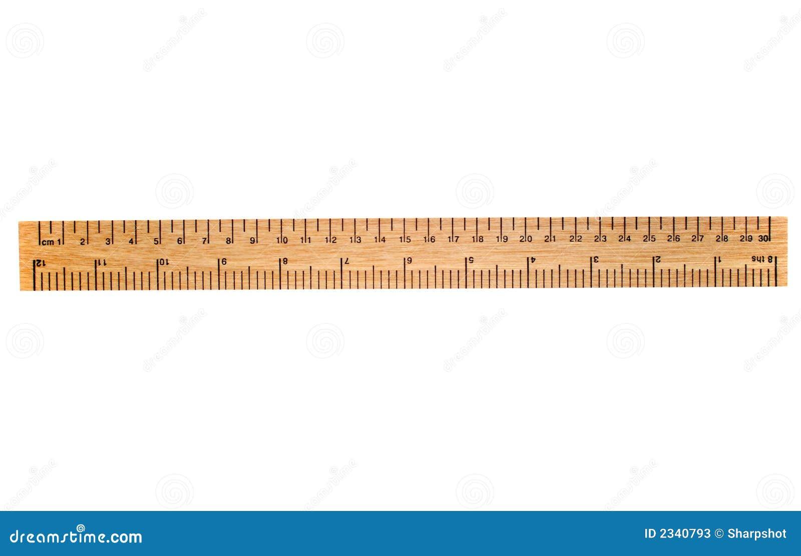 Trälinjal för 30 cm