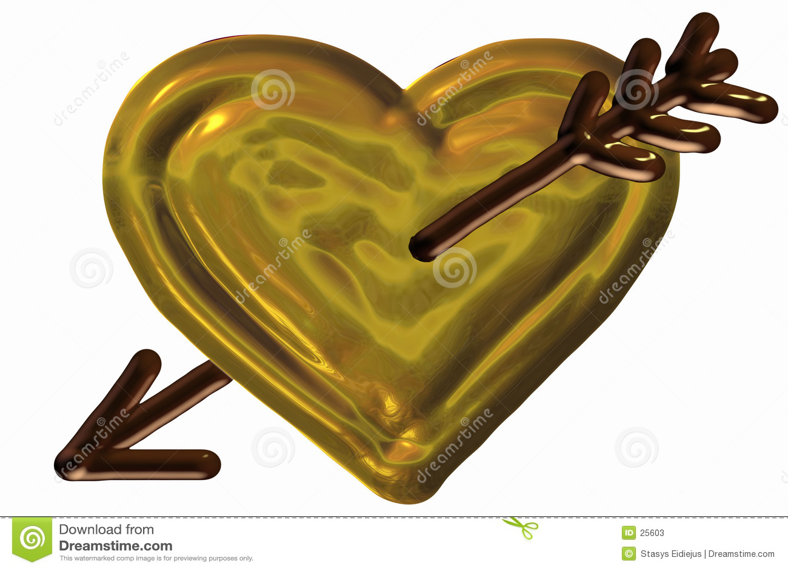 Trängd igenom hjärta