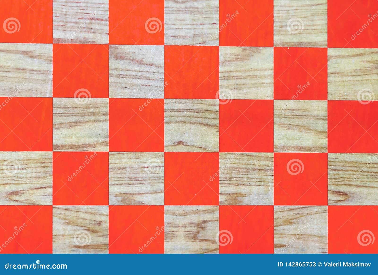 Träschackbräde med orange celler sikt för perspektiv för bild för bakgrundsschackbräde dator frambragd
