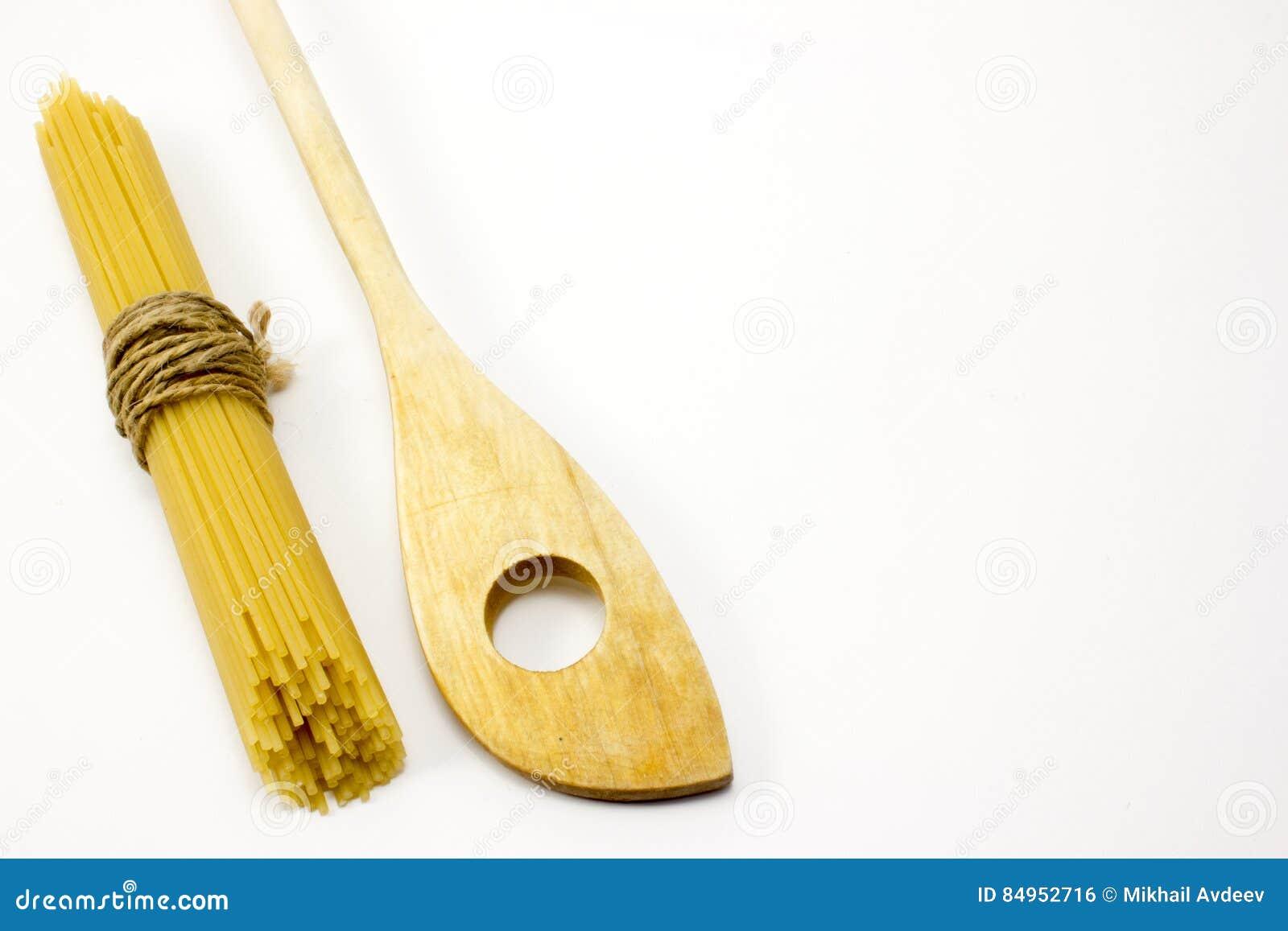 Träsked och pasta