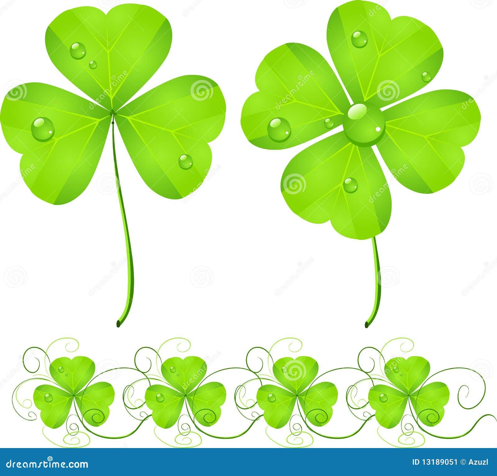 Trébol del verde del día del St. Patrick