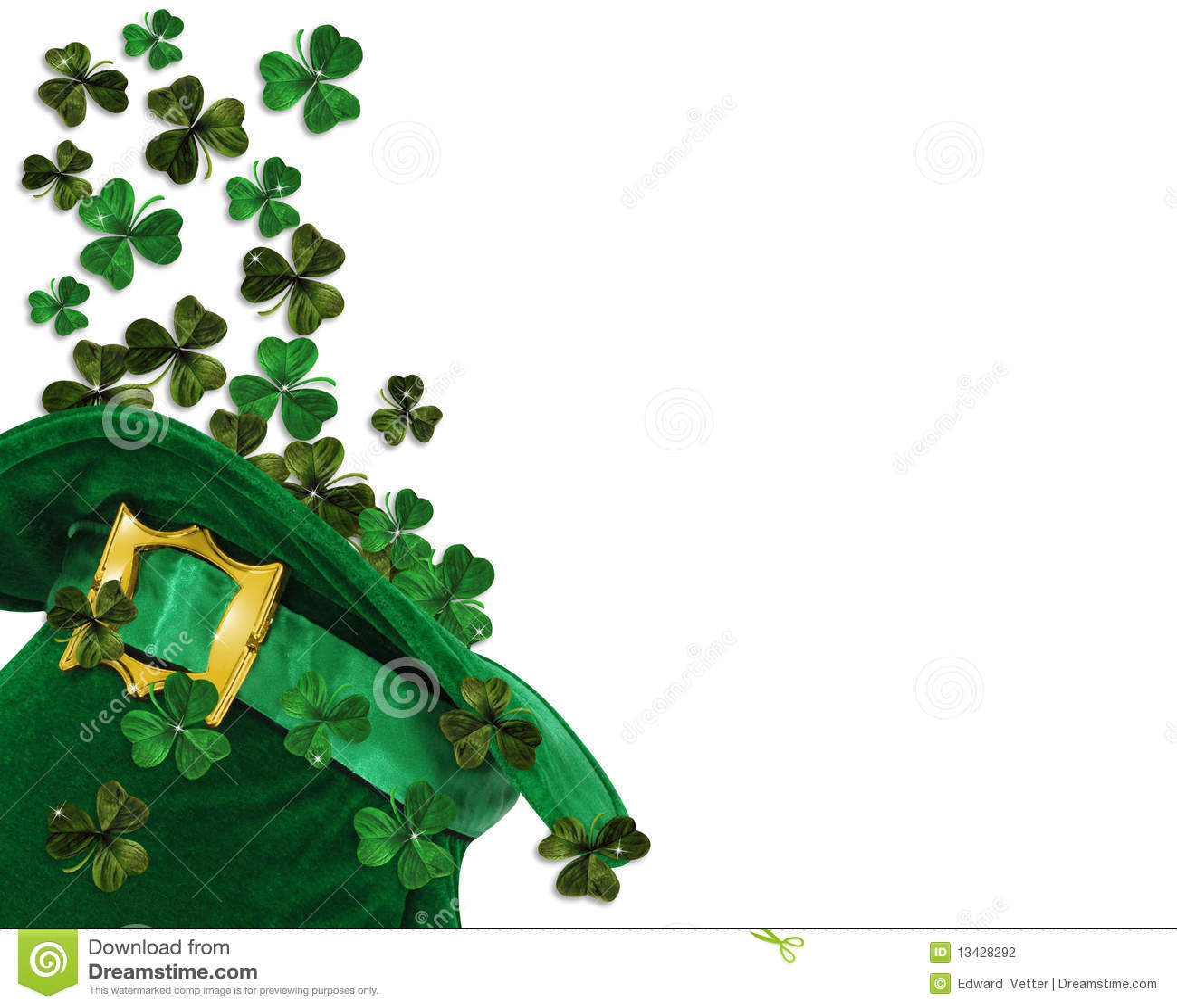 Tréboles Del Día Del St Patrick En Sombrero Stock de ilustración ...