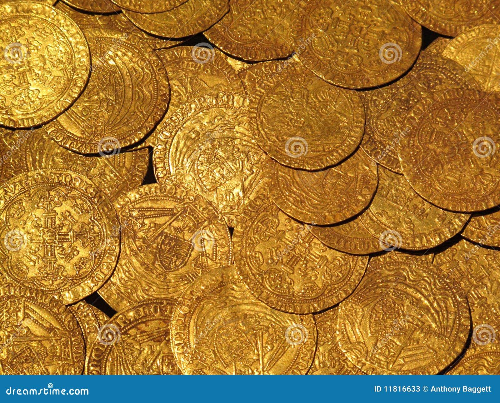 Trésor médiéval de pièces d or