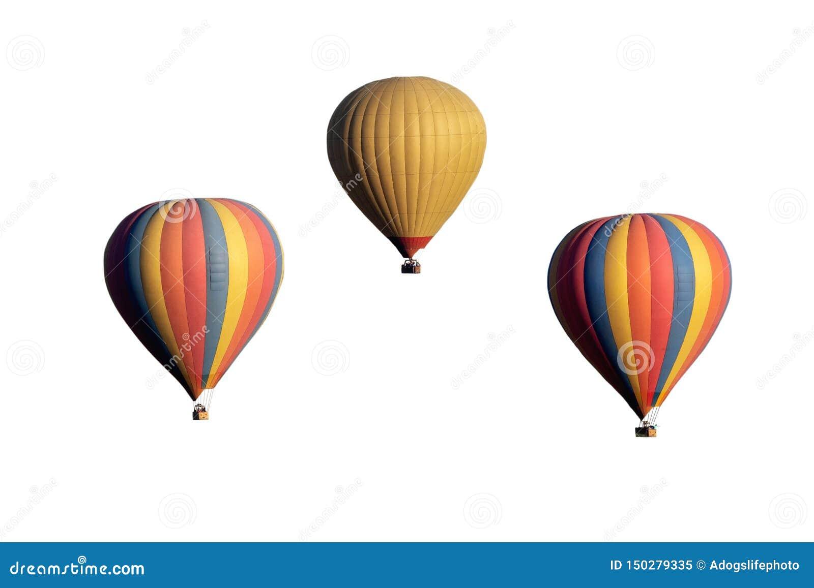 Três balões de ar quente isolaram-se