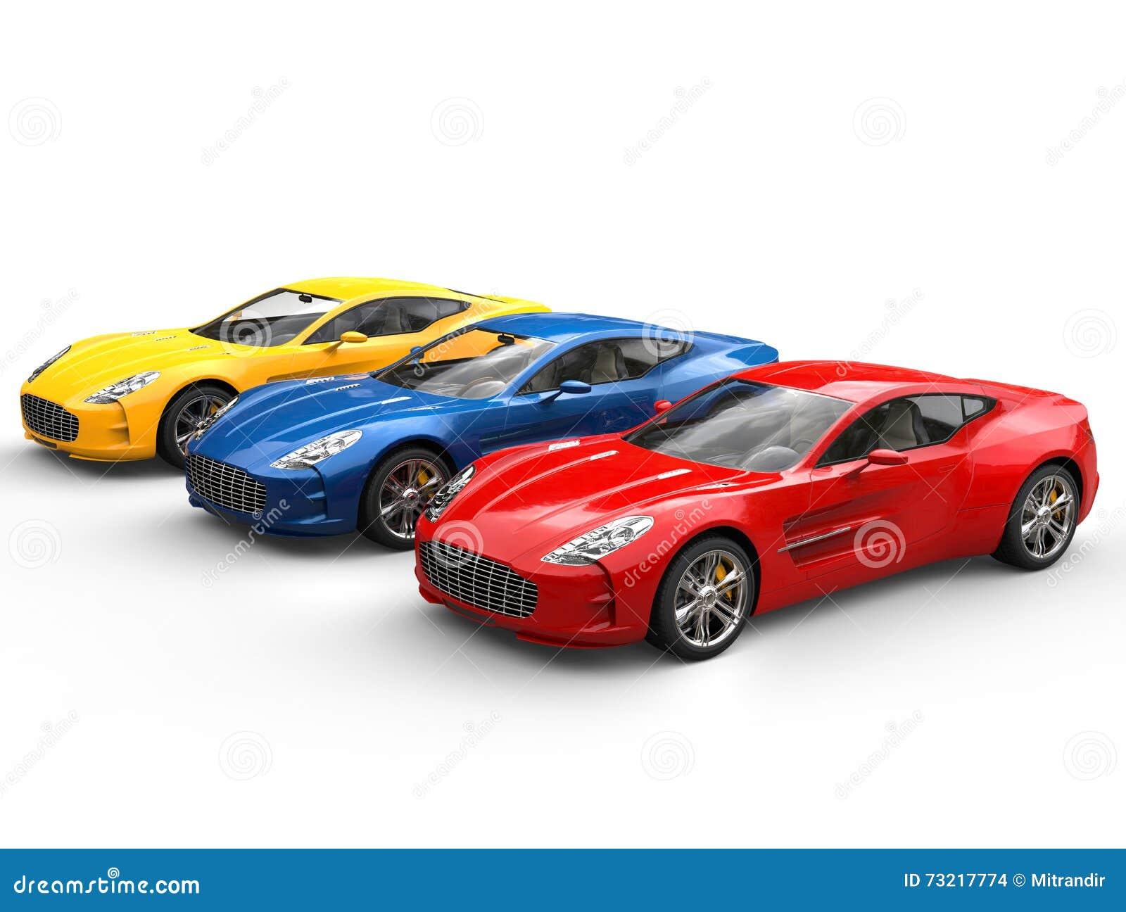 Três Carros De Esportes Bonitos Foto De Stock Imagem De Bonito