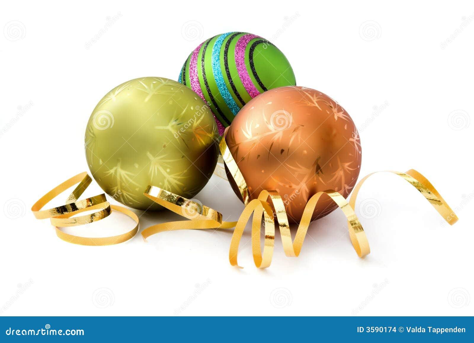 Três decorações do Natal