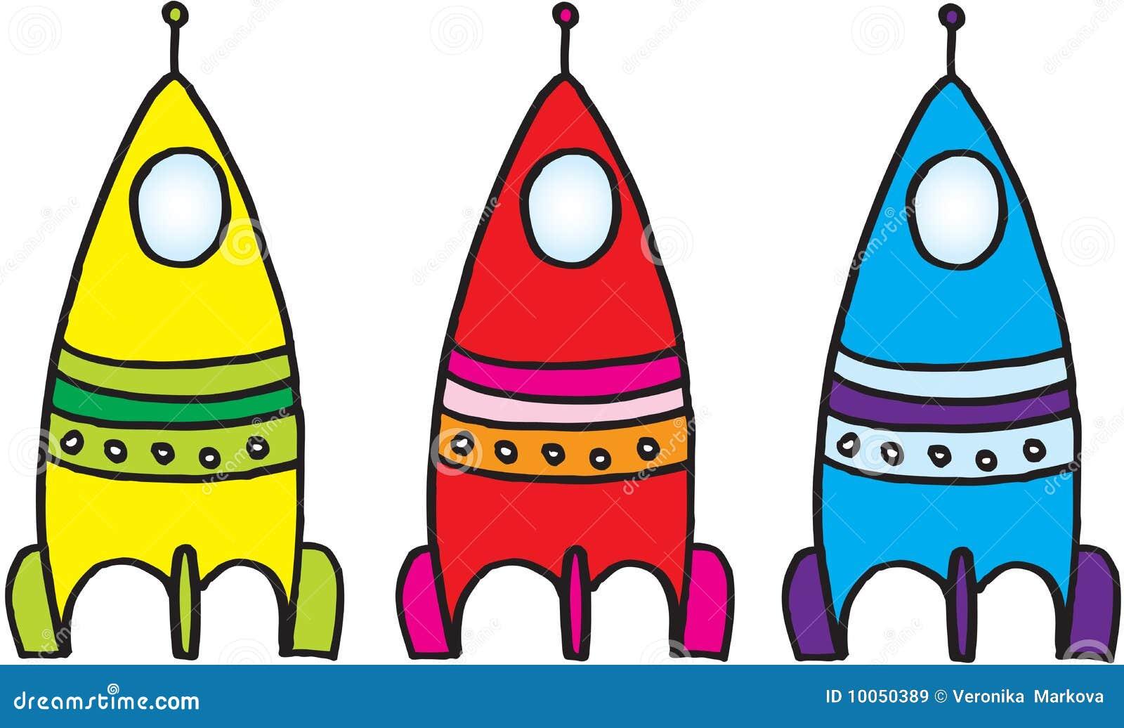 Três naves espaciais