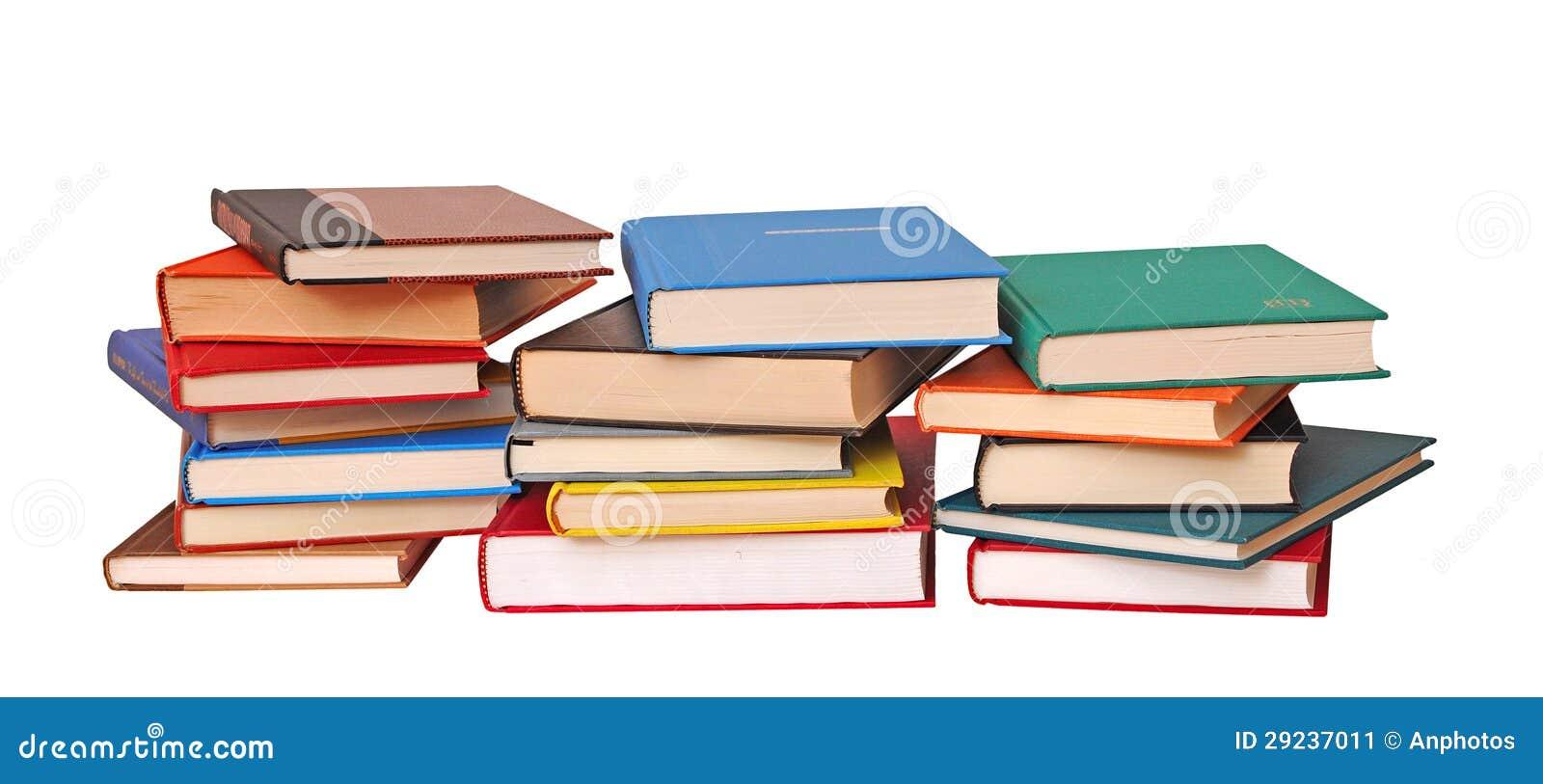 Download Três Pilhas De Livros Coloridos Imagem de Stock - Imagem de pilha, livro: 29237011