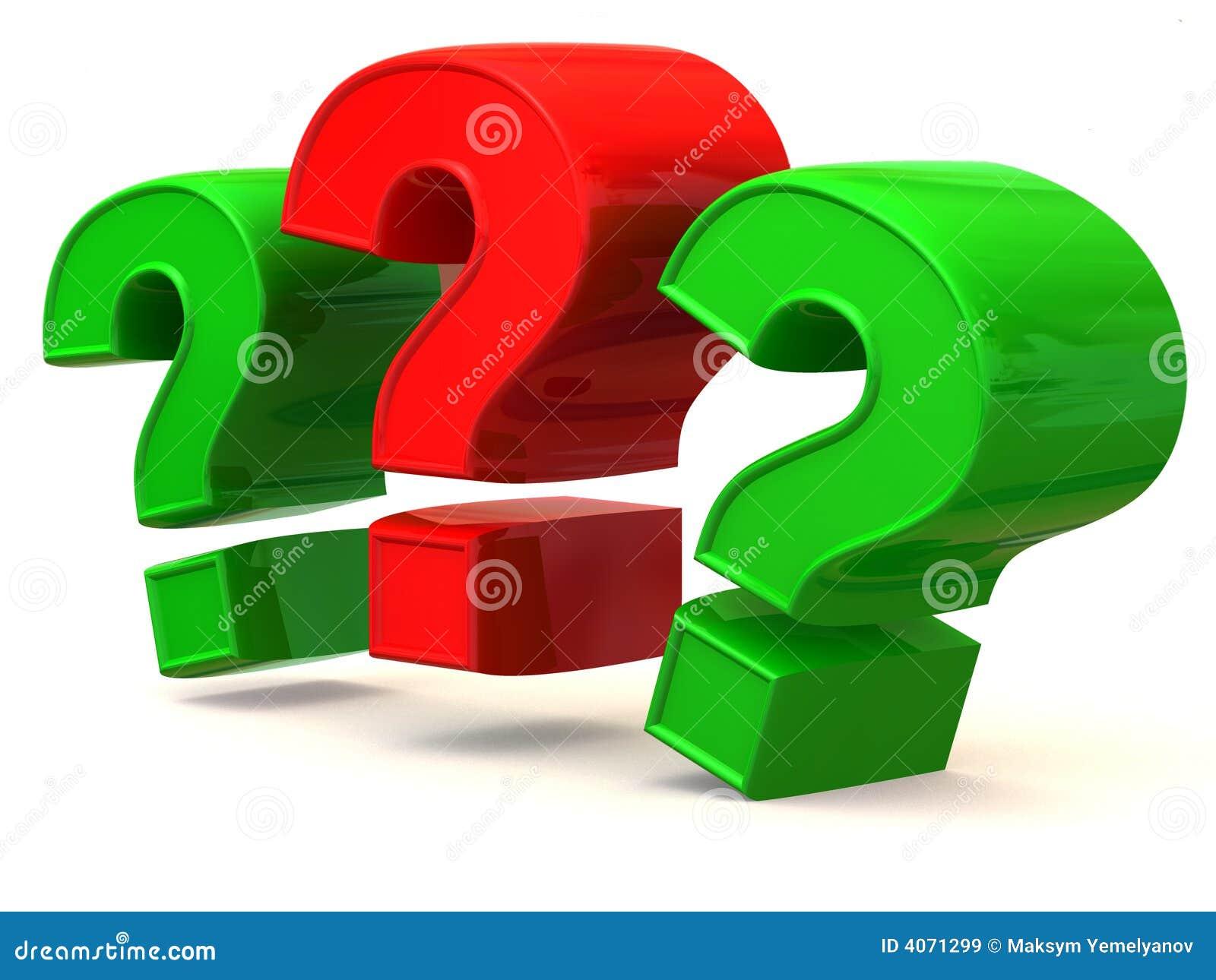 Três sinais em uma pergunta