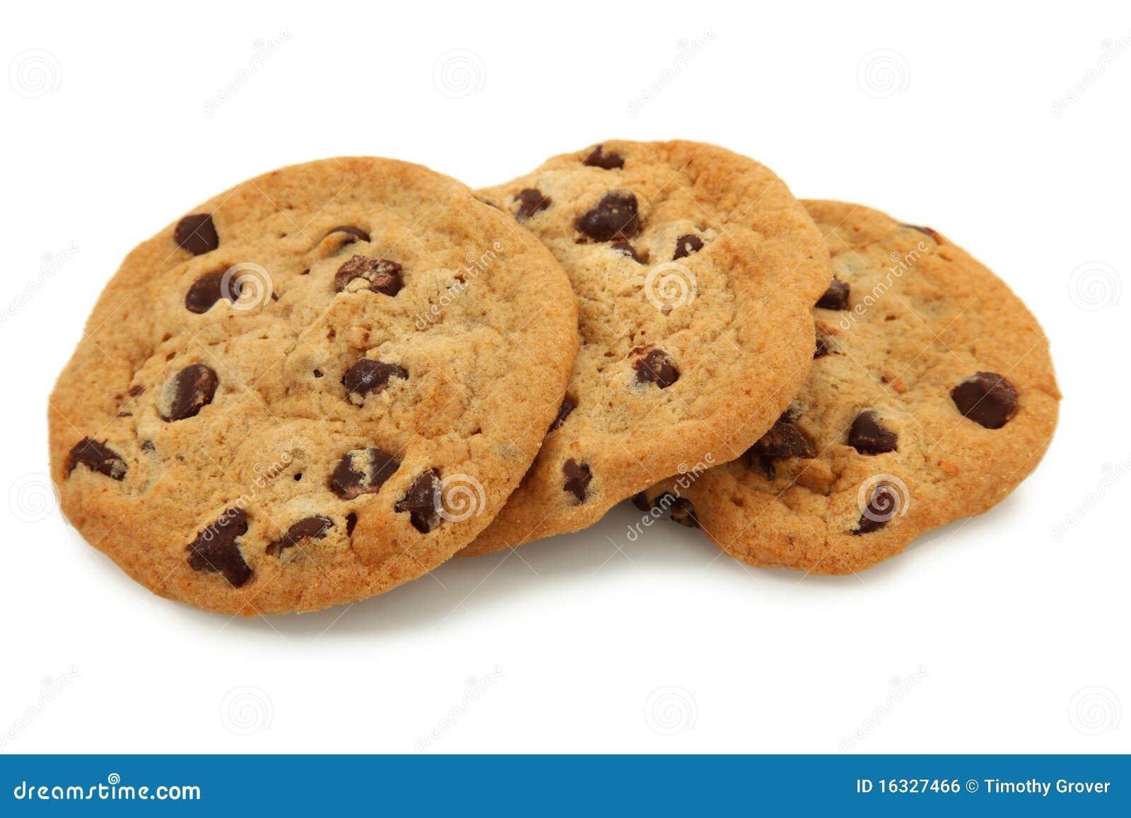 Trío de las galletas de viruta de chocolate