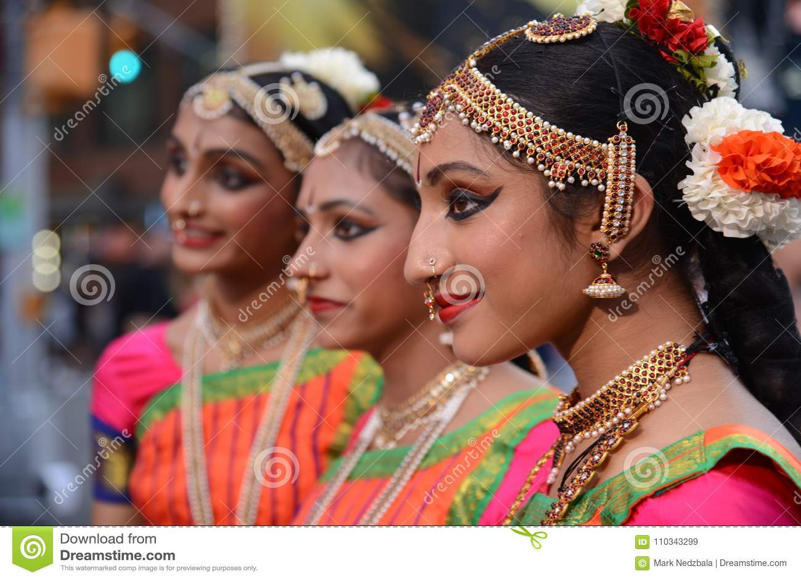 Trío del festival de Diwali