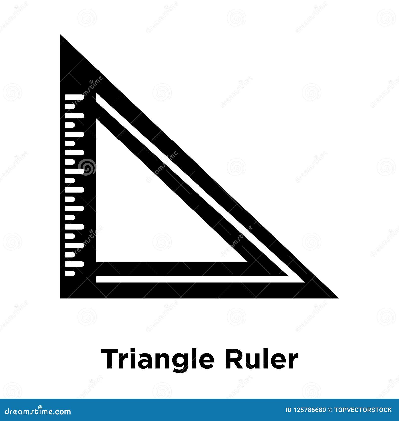 Trójbok władcy ikony wektor odizolowywający na białym tle, logo co
