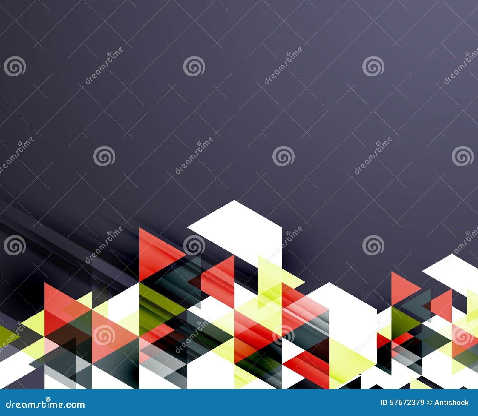 Trójboka deseniowy skład, abstrakcjonistyczny tło