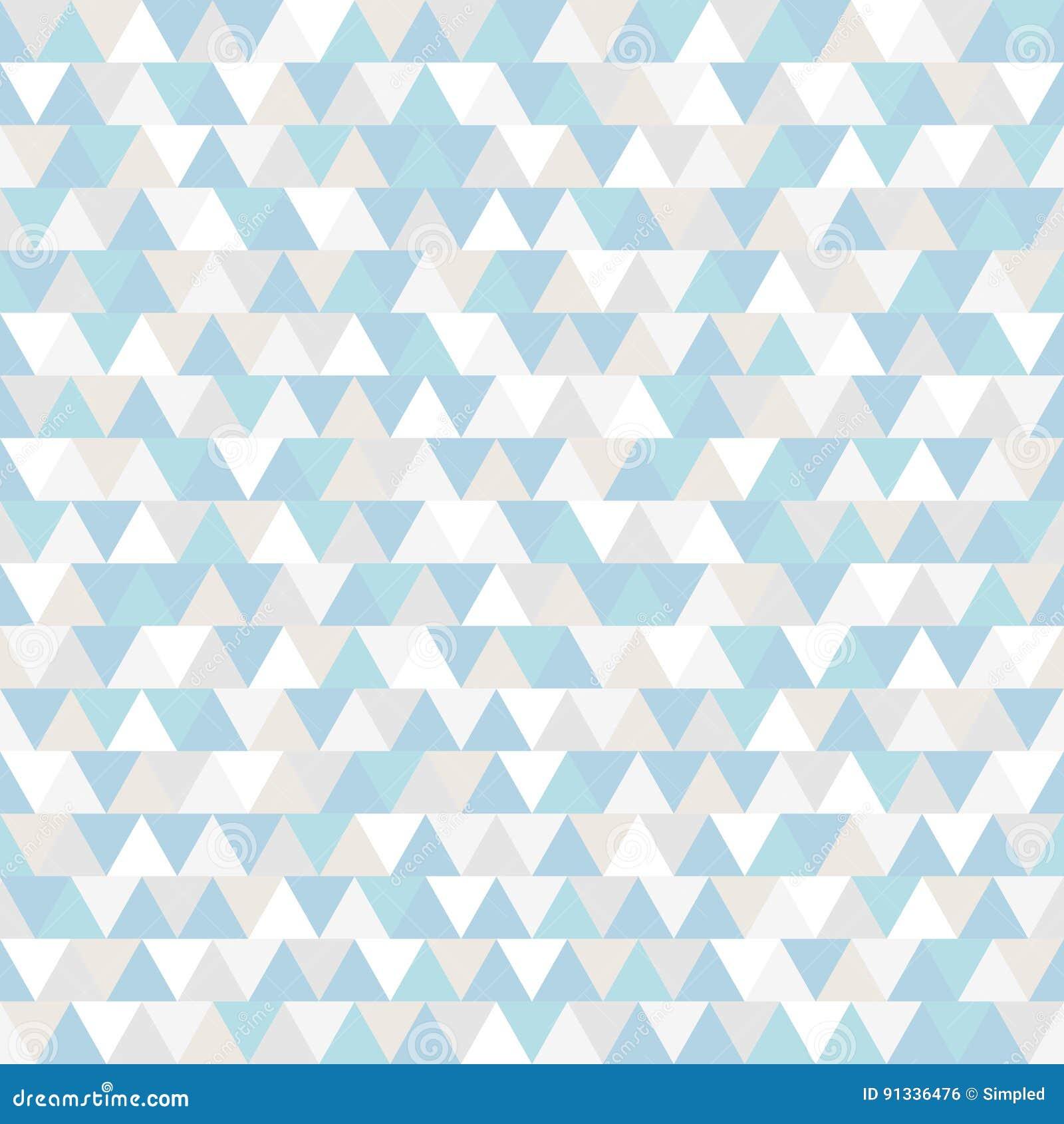 Trójboka wektoru wzór Błękitny popielaty i biały poligonalny zima wakacje tło Abstrakcjonistyczna nowy rok ilustracja