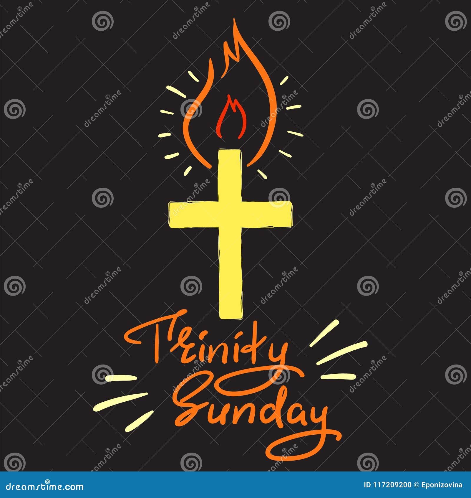 Trójca Niedziela Motywacyjny Wycena Literowanie Religijny