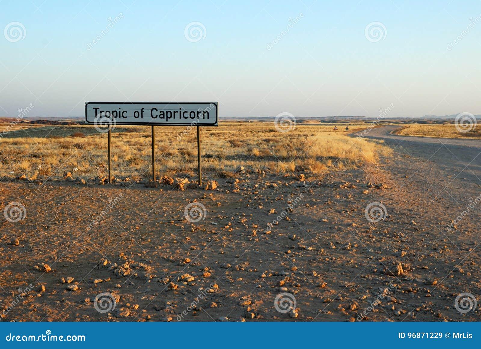 Trópico de Capricórnio, Namíbia