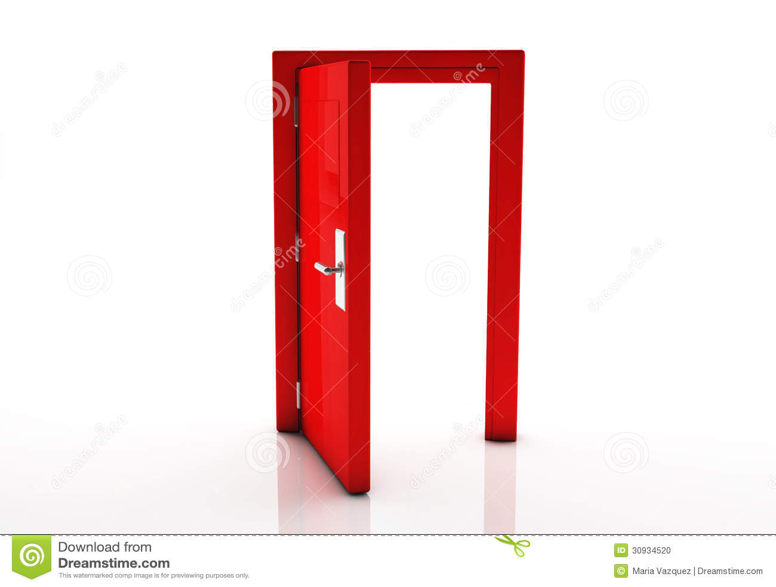 t r 3d offen stockfoto bild 30934520. Black Bedroom Furniture Sets. Home Design Ideas