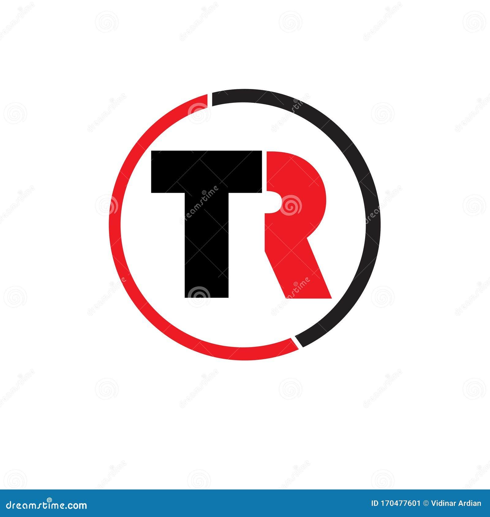 TR Letter Initial Icon Logo Design Inspiration Vector