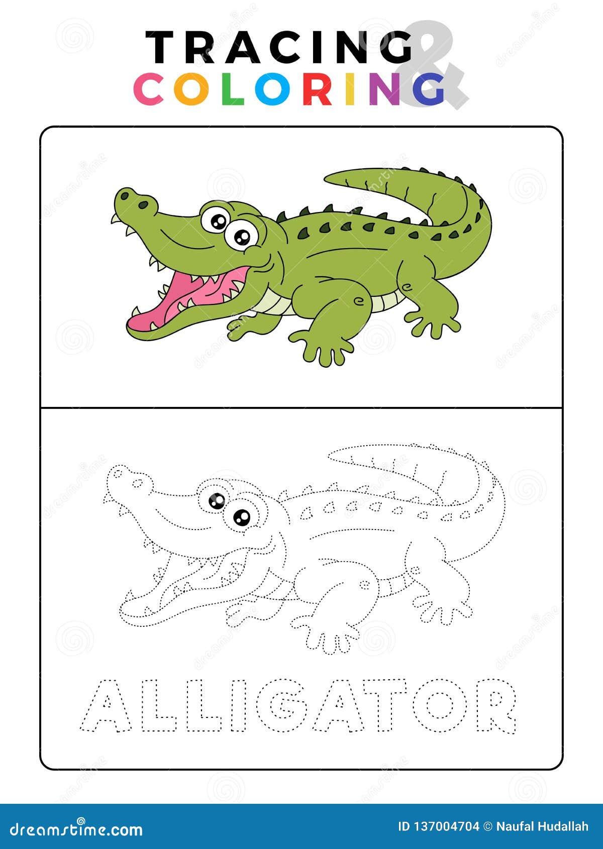 Coloriage Animaux Crocodile.Tracage Animal Et Livre De Coloriage De Crocodile Drole D