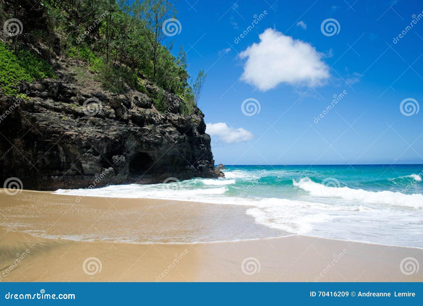 Traînée de Kalalau, plage Kaui
